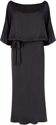 Monica Nera Melania Black Viscose Dress