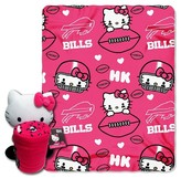 Hello Kitty NFL Bills Blanket and Hugger Bundle (40 x 50)