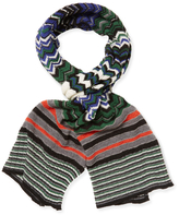 Missoni Long Scarf with Rolled Edges