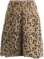 Carven Textured lace skirt