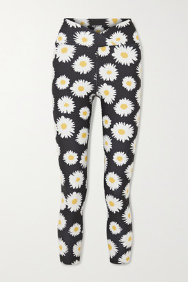 YEAR OF OURS Daisy Veronica Floral-print Stretch Leggings - Black