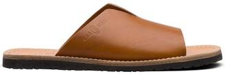 Car Shoe Logo Embossed Open-Toe Sandals