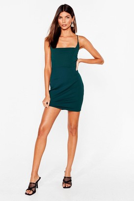 Nasty Gal Womens Red Mini Dress with Square Neckline - Green