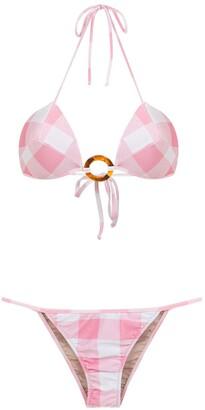 Adriana Degreas Checked Bikini Set