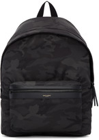 Saint Laurent Black Camo City Backpack