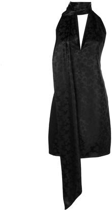 Givenchy Floral Silk Halterneck Dress