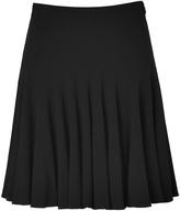 Ralph Lauren Black Flounce Sable Skirt