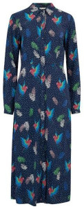 Sugarhill Boutique Clarissa Paradise Parrot Shirt Dress Navy - 8