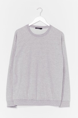 Nasty Gal Womens The Simple Things Oversized Sweatshirt - Grey