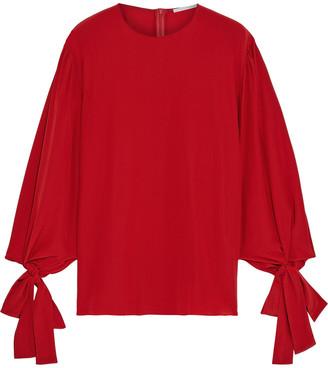 Stella McCartney Jaden Tie-detailed Silk Crepe De Chine Blouse