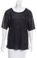 Anine Bing Sequined Scoop Neck Top w/ Tags
