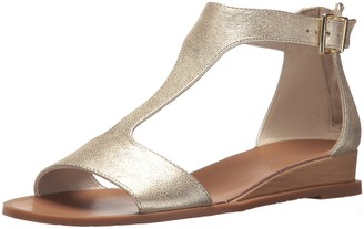 Kenneth Cole New York Women's Judd Low Wedge T-Strap Sandal