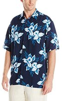 Cubavera Men's Short Sleeve All Over Floral Print Woven Shirt