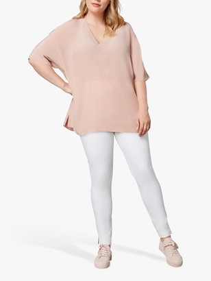 Live Unlimited Curve Cupro Box Top, Pink Blush