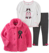 Kids Headquarters 3-Pc. Jacket, T-Shirt & Leggings Set, Baby Girls (0-24 months)