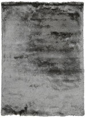 Kosas Home Collins Hand-Woven Shag Area Rug, Dark Gray, 8'x10'