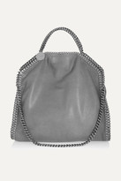 Stella McCartney The Falabella Medium Faux Brushed-leather Shoulder Bag - Light gray
