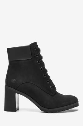 """Timberland Womens Black 6"""" Lace Up Heel Boots - Black"""