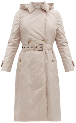 Brunello Cucinelli Belted Padded Trench Coat - Light Beige