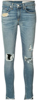 Rag & Bone Jean - distressed skinny jeans - women - Cotton/Polyurethane - 25