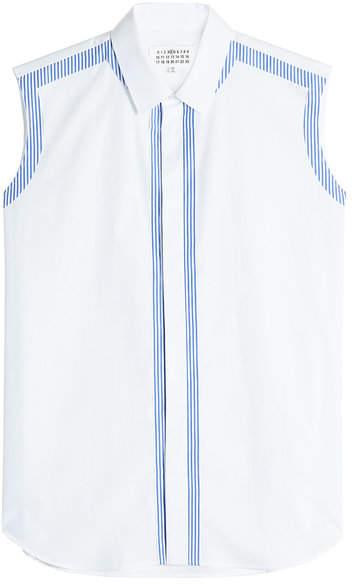 Maison Margiela Sleveless Cotton Shirt