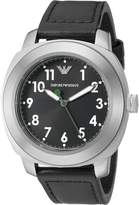 Emporio Armani Men's AR6057 Sport Leather Watch