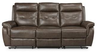 Sasheer Leather Reclining Sofa Latitude Run