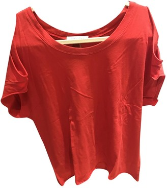 Sandro Red Cotton Tops