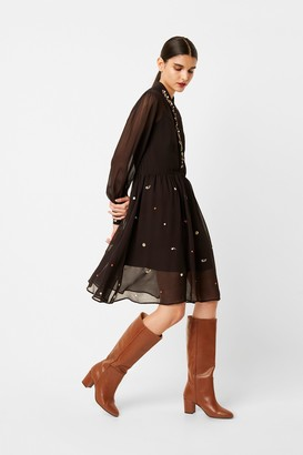 French Connection Danna Embroidered Shirt Dress