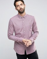 Farah Shirt With Textured Weave In Slim Fit