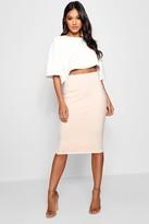 boohoo Lexi Boxy Crop And Midi Skirt Co-Ord