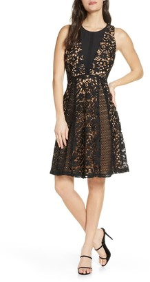 Chelsea28 Sleeveless Lace Fit & Flare Dress