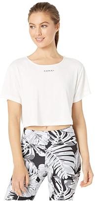 Koral Terrain Cupro Crop Top (White) Women's Clothing
