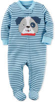 Carter's 1-Pc. Striped Dog Footed Coverall, Baby Boys (0-24 months)