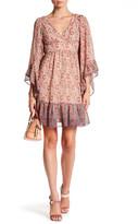 Betsey Johnson V-Neck Bell Sleeve Babydoll Dress