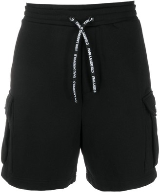 Karl Lagerfeld Paris Neon Logo Track Shorts