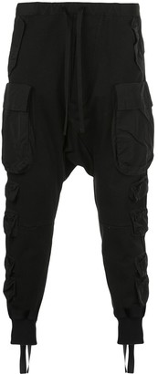 Unravel Project Drop-Crotch Cargo Trousers