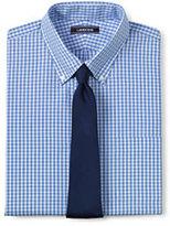 Lands' End Men's Tall 40's Poplin Dress Shirt-Fresh Blue Multi Gingham