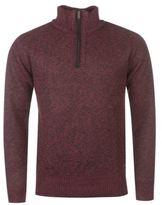 Pierre Cardin Mens Quarter Zip Bonded Jumper Lined Knitwear Sweater Pullover