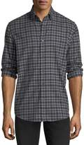 Neiman Marcus Plaid Flannel Sport Shirt