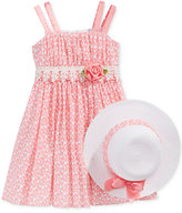 Bonnie Jean Dot-Print Dress and Hat, Toddler & Little Girls (2T-6X)