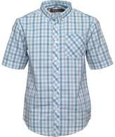 Ben Sherman Boys Multi Coloured Gingham Poplin Shirt Sky Blue