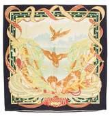 Salvatore Ferragamo Large Printed Throw Pillowcase