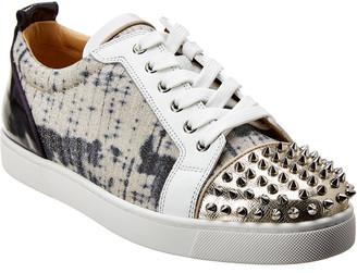 Christian Louboutin Louis Junior Spikes Leather Sneaker