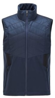 HUGO BOSS Water-repellent gilet with padding and reflective details