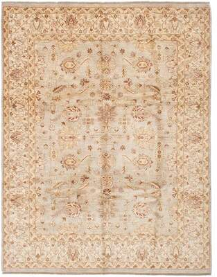"""Alegria Canora Grey One-of-a-Kind Hand-Knotted 8'1"""" x 10'5"""" Wool Light Gray Area Rug Canora Grey"""