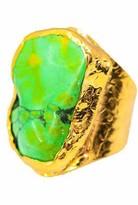 Charlene K Green Turquoise Cigar Ring