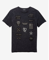 Express patch embellished graphic t-shirt