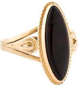 Ring 14K Onyx Navette