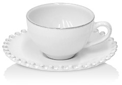 COSTA NOVA White Pearl Coffee Cup & Saucer